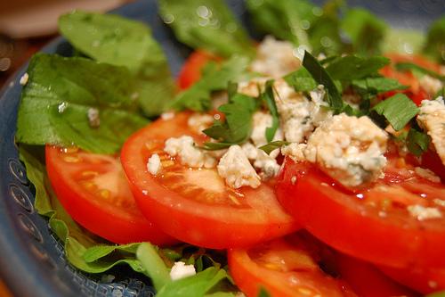 Home grown aragula & tomato salad